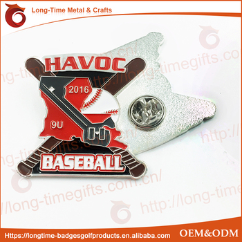 Wholesale Baseball Custom Metal Lapel Pins