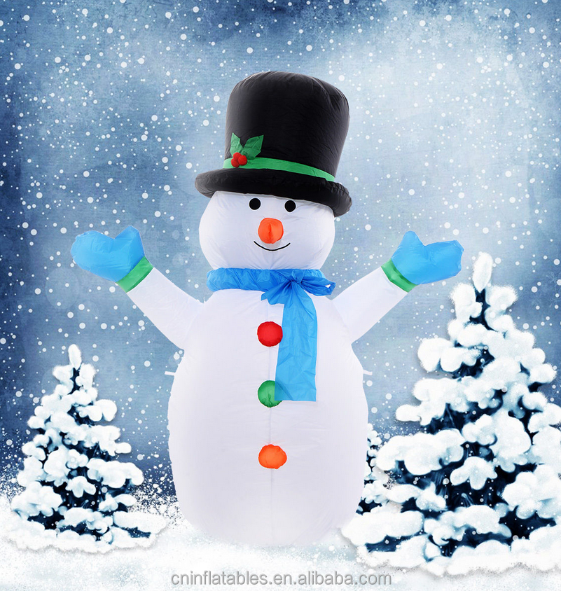 Christmas Holiday Inflatable Snowman Yard Decoration