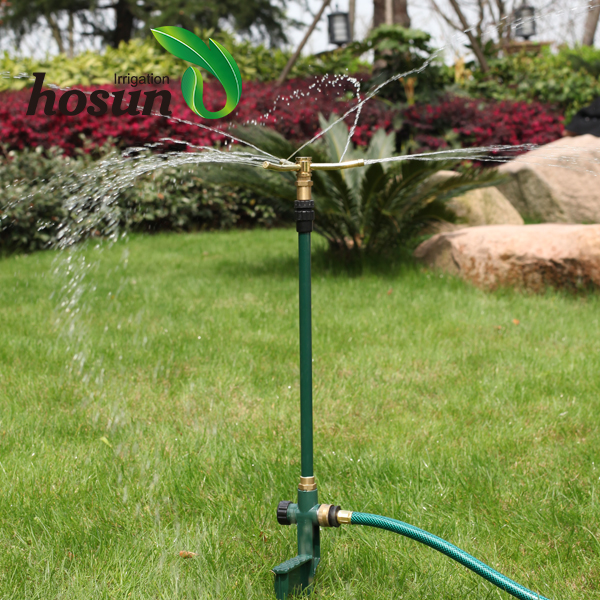 Hot sale automatic metal brass nozzle rotating lawn farm equipment garden mobile sprinkler irrigation system