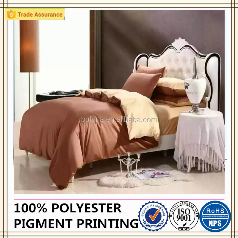 pure colour bed sheet sets modem design polyester brushed fabric