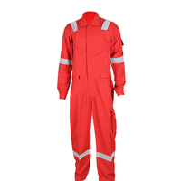 EN Standard Red Reflective flame resistant FR cotton coverall