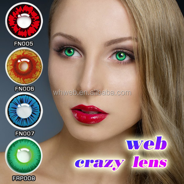 Good quality low price dream color contact lenses blue green red black contact lenses pure color crazy contact lenses