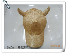 2013 fashional latest golden glitter sport hats/baseball caps