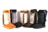 GENUINE SHEEPSKIN WOMAN BOOTS WITH RABBIT FUR