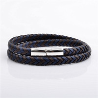 Discount Classic Cheap Price Surfer Double Layer Handmade Leather Bracelet Designs