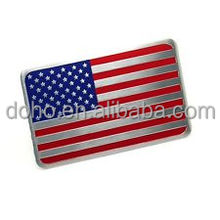 Newly designing & Hot selling Metal USA national flag car sticker badge metal American flag auto decal emblem