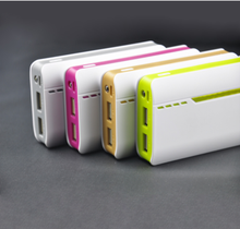 Multi-USB output multi-color portable high-quality 9000mAh mobile powerbank
