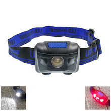 LED Mini Headlamp Waterproof 3W Headlight 3-Mode Overhead Lamps Camping Head Lantern Flashlight Torch Light For AAA Batter