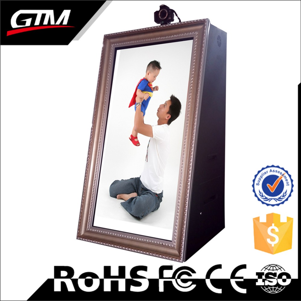 "55"" digital photo booth totem photobooth selfie photobooth mirror wedding photo booth machine"