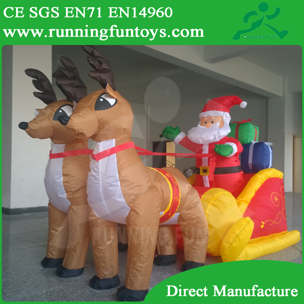 Christmas ornament inflatable outdoor deer christmas decorations ICL0123