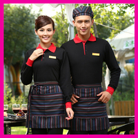 High quality cheap fast food restaurant uniform Japanese restaurant waiter uniform