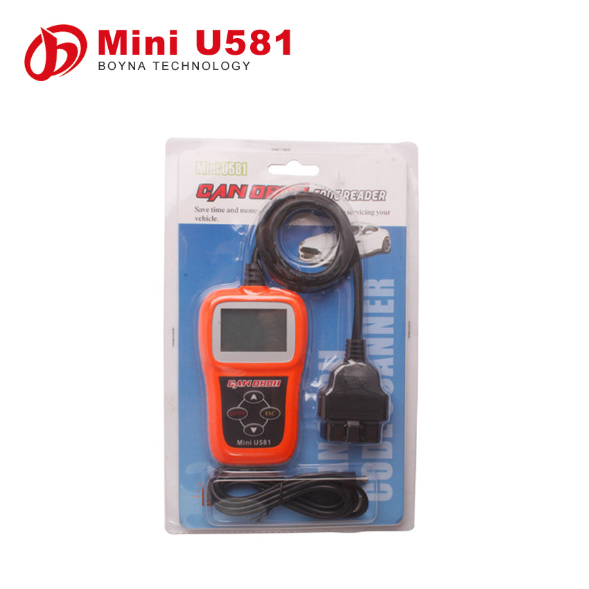 Update online Memoscan Mini U581 CAN OBDII/EOBDII Reader u581 can memo scanner update online freely