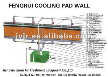 7090 type evaporative cooling pad for poultry farm
