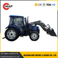 China low price 4x4 50hp mini machine tractor agricultural