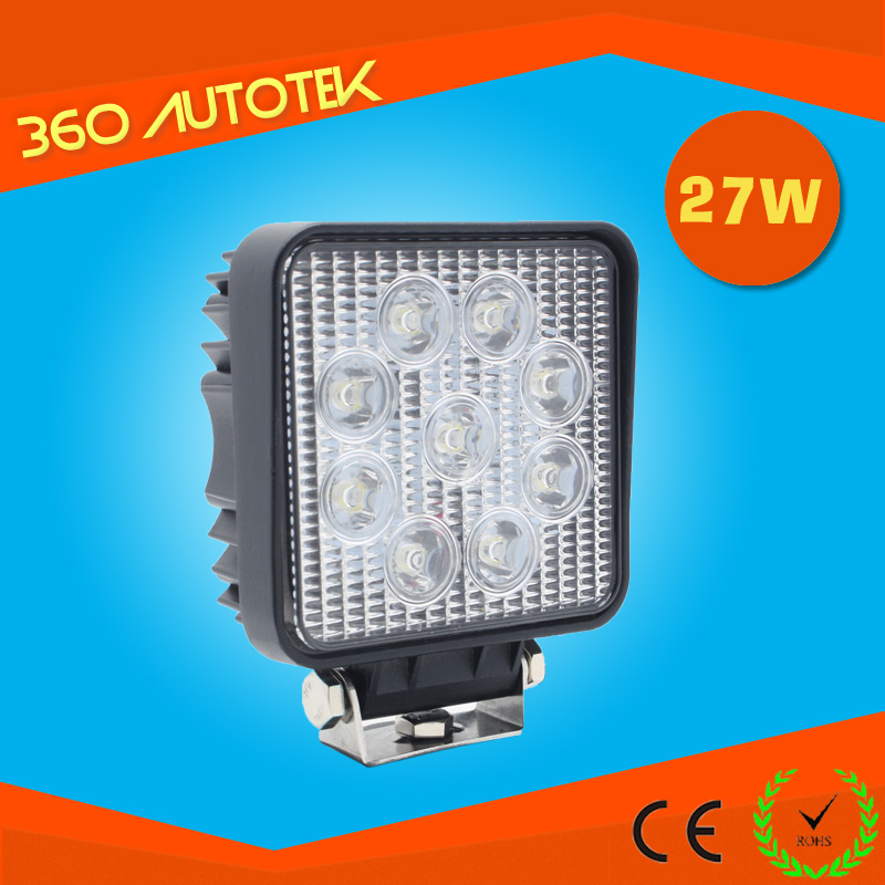 27 Watt magnetic base led work light 12V 24V 48V DC for Truck off road 4x4 LED Work Light