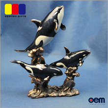 Garden Animal Statues Single Killer Whale Resin Miniature Figurines