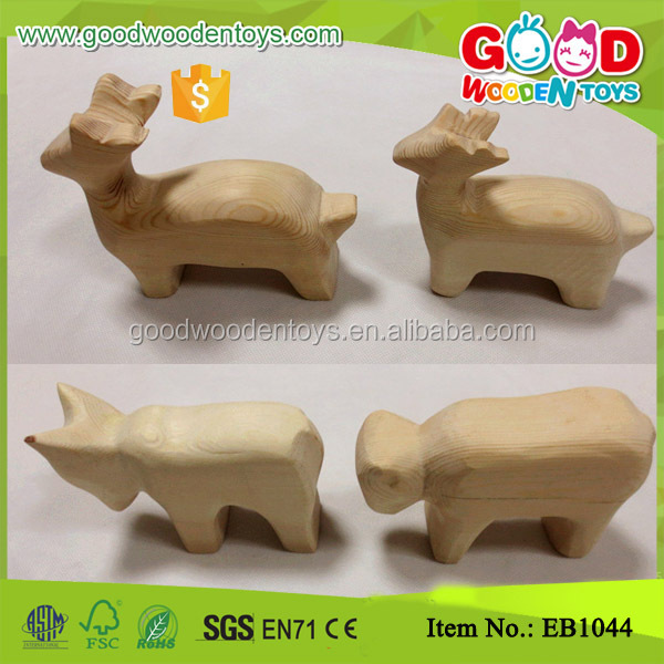 Handmade Mini Animal Children Holiday Gift Wooden Crafts Toy