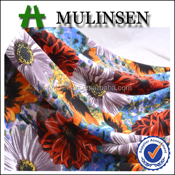 Mulinsen Textile Knit Polyester 4 Way Stretch Lycra Jersey Peruvian Fabric Wholesale For Leggings