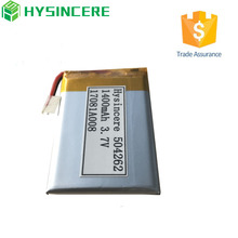 504262 3.7v 1400mah lipo battery with small size from Shenzhen factory