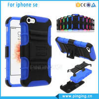 Bulk Buy From China PC Silicone Hybrid For iPhone 5Se Case, Belt Clip Holster Case For iPhone 5 Se