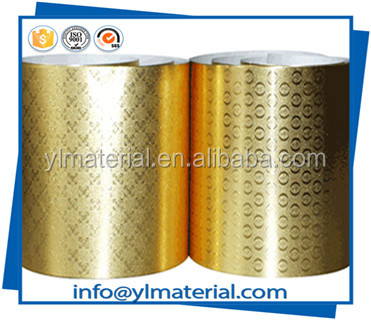 Brand names of shiny side gold aluminum foil