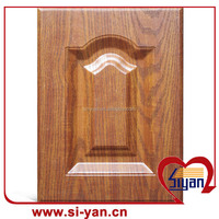 pvc pressed high quality wood kitchen cabinet door