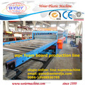 1220mm width celuka three layers pvc wpc foam board machine, wpc construction board production line