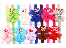 2014 New Handmade forked tail Flowers Baby Chiffon Headband with Elastic and Soft