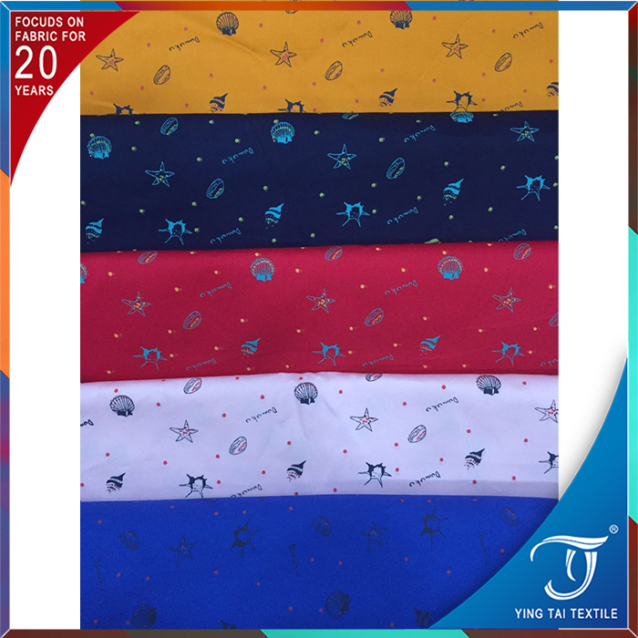 Wholesale high quality Textiles/Fabrics 100% cotton poplin printed fabric TS5-1