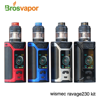 Newest Vape kit 2ml/ 4ml atomizer Sinuous Ravage 230 electric cigarette 200W WISMEC Ravage230 Kit with GNOME Evo tank