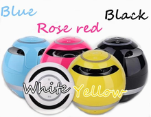 NEW GS009 Wireless Portable Mini FM Ball Shaped S-BASS Stereo Hands Free Bluetooth Speaker W / Mic LED Light USB Ball Surround