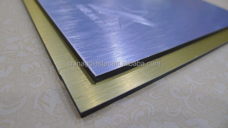 Scratch silver color aluminum composite panels