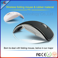 2.4ghz usb wireless mouse folding arc mouse for pc laptop optical mouse