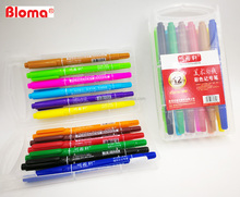 Factory selling cheap cost 12 colors twin tips permanent markers, CD marker, DVD marker in gift pack