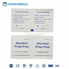Medical disposable FDA approved alcohol nonwoven cleaning wipe