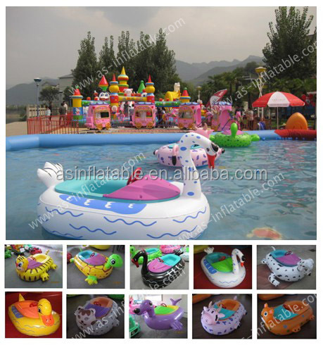 Colorful animals style kids water boat paddle boat electric bumper boat