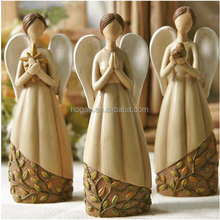 oem mini polyresin wing angel statue for wedding decoration