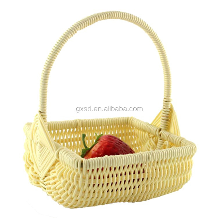 Tiny Wicker Basket With Handle : Wholesale fruit packing basket small plastic wicker