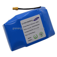 Samsung Li-ion battery pack 36V 4400mAh for airwheel, hoverboard, electric scooter