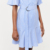 Fashion New Mid Short Sleeve Stripe Frill Hem Casual Plus Size shirt dresses
