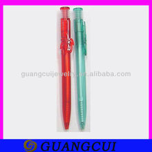 fashion red and light blue tree shape ball point pen for promotional gift