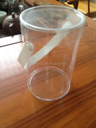 JTD manufacture wholesale custom transparent plastic bucket with lid for toy packaging