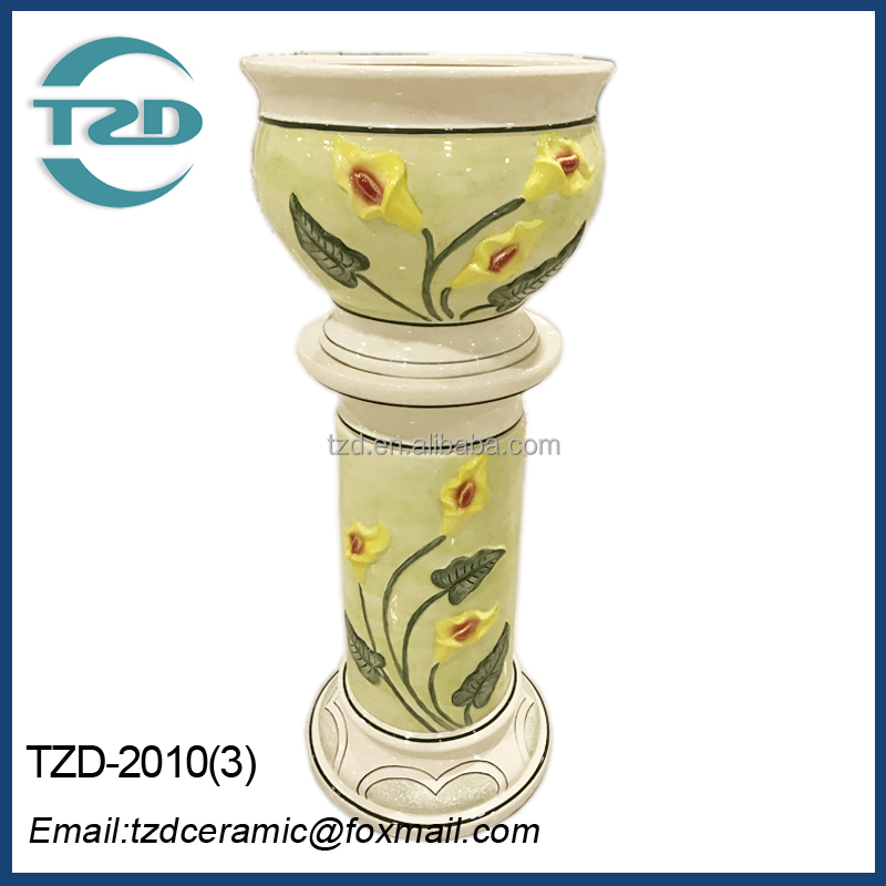 hot sale ceramic rome column,home decoration and planter indoor