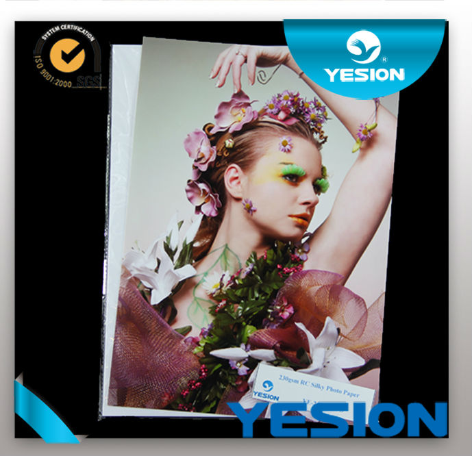 Factory sell,high quality ,best price resin coated silk photo paper