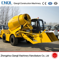 Hot sales automatic mobile concrete mixer with concrete self loading