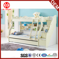 white multifunction high quality solid wood kids bed