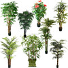 Best Sale Outdoors UV Resistant Artificial Plastic Tree on Plastic Trunk