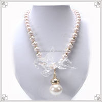 2014 Resin Horse White Pearl Necklace For Women Garment Accessories