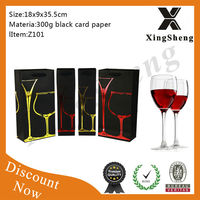 Best sales hot selling black wine paper gift bags