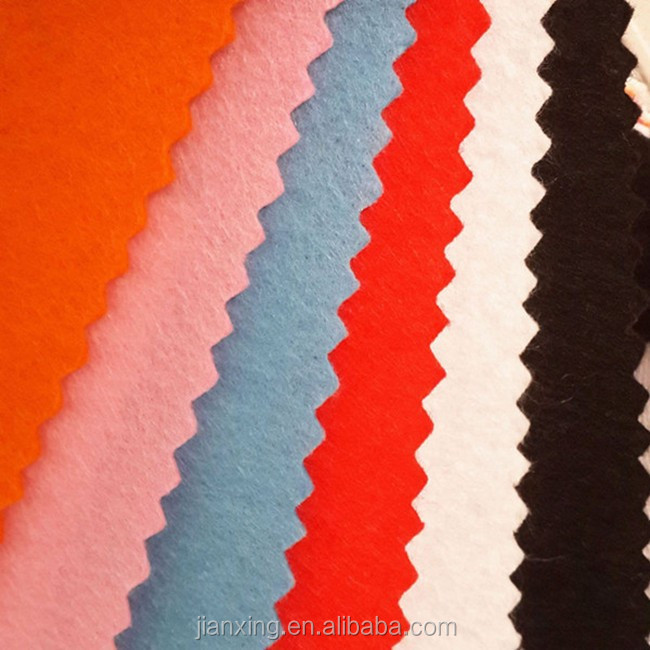 Guangdong needle punched 100% polyester nonwoven wholesale felt fabric